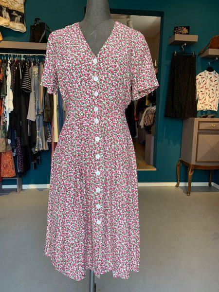 Vintage-Kleid mit zauberhaftem Rosenmuster